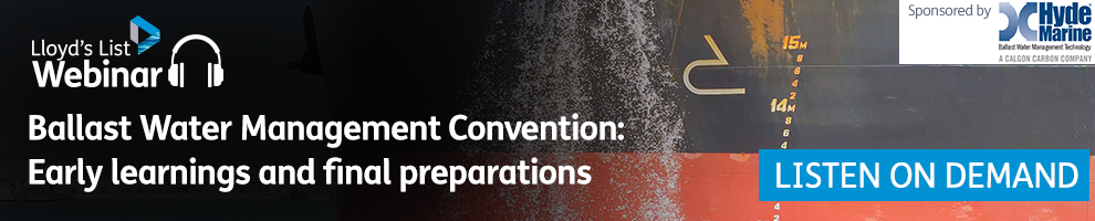 Ballast Water Management Convention Banner