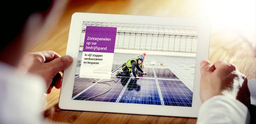 In 5 stappen zonnepanelen op uw bedrijfspand