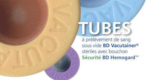 Tubes BD Vacutainer® : prélèvement de sang sous vide avec bouchon sécurisé BD Hemogard™