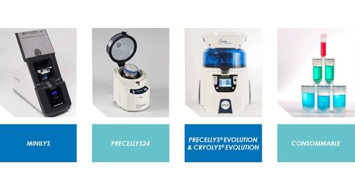 Precellys® : gamme de broyeurs-homogénéiseurs à billes