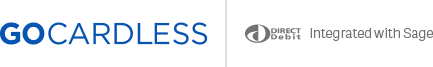 GoCardless integrated with Sage logo