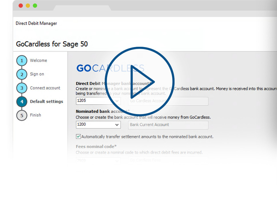 GoCardless for Sage screenshot