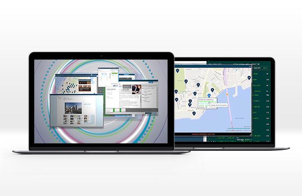 várias telas do Travelport Smartpoint.