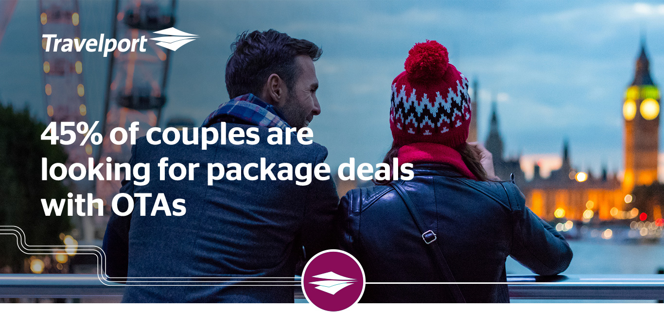 45% of couples are looking for package deals with OTAs.