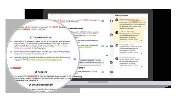 TeamDocs ermöglicht die gleichzeitige Bearbeitung von Dokumenten mit mehreren Beteiligten